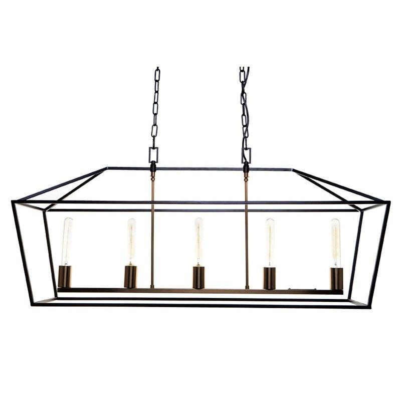 Olivier Iron Cage Pendant Light, Large