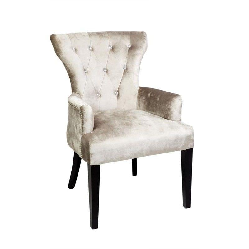 Ella Diamond Arm Chair - Champagne