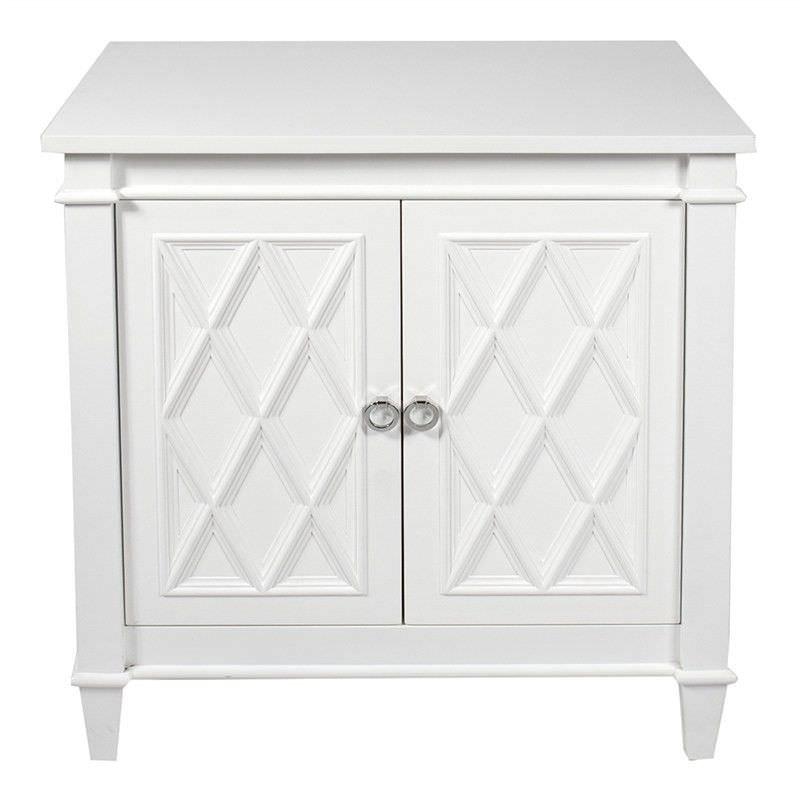 Plantation 2 Door Side Cabinet, 76cm, Satin White