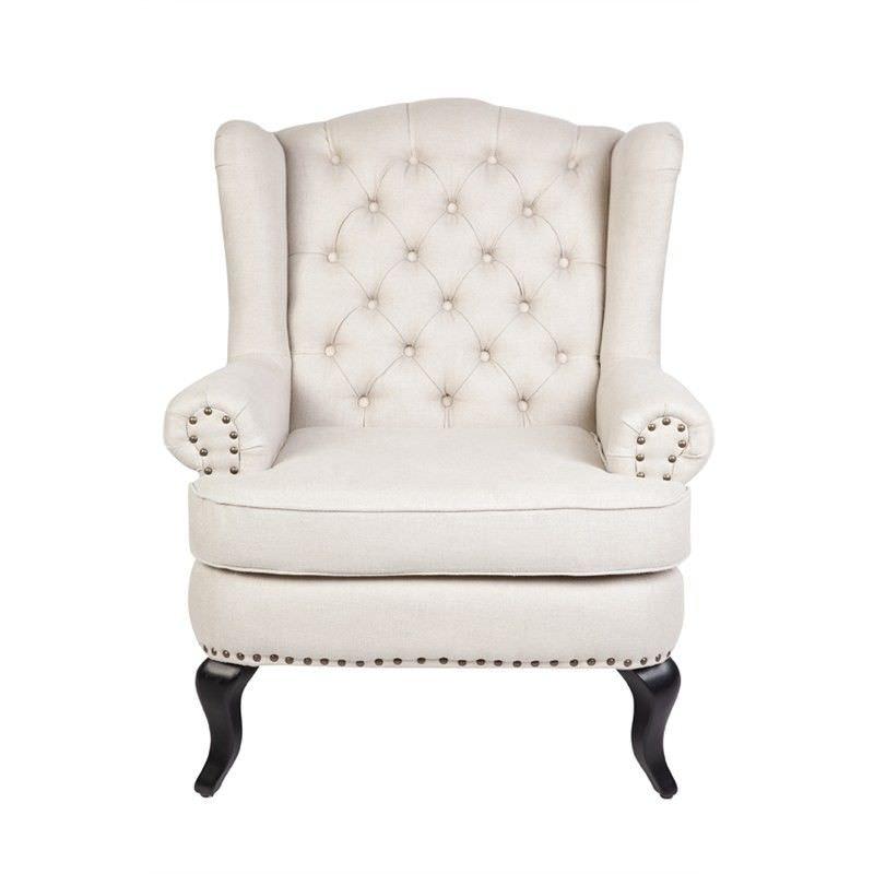 Sheffield Natural Linen Upholstered Arm Chair
