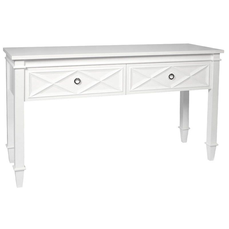 Plantation 2 Drawer Console Table - White