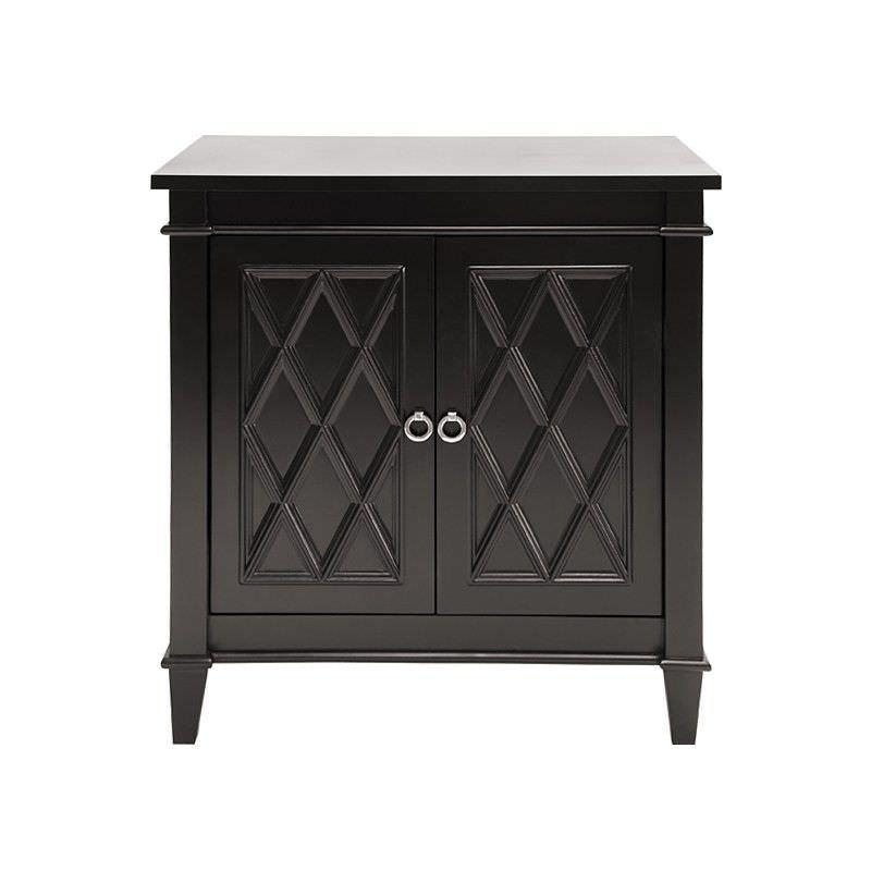 Plantation 2 Door Side Cabinet, Satin Black