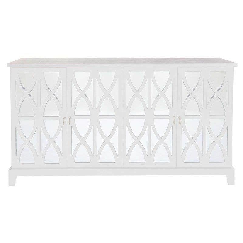 Alistair 4 Door 160cm Buffet Table - White