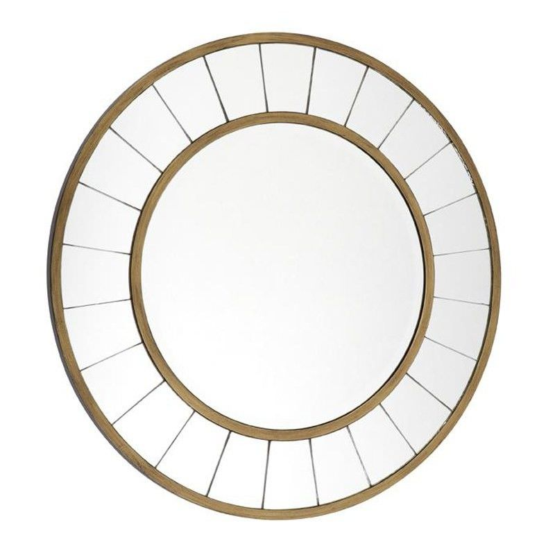 Valencia Wooden Frame 60cm Round Wall Mirror