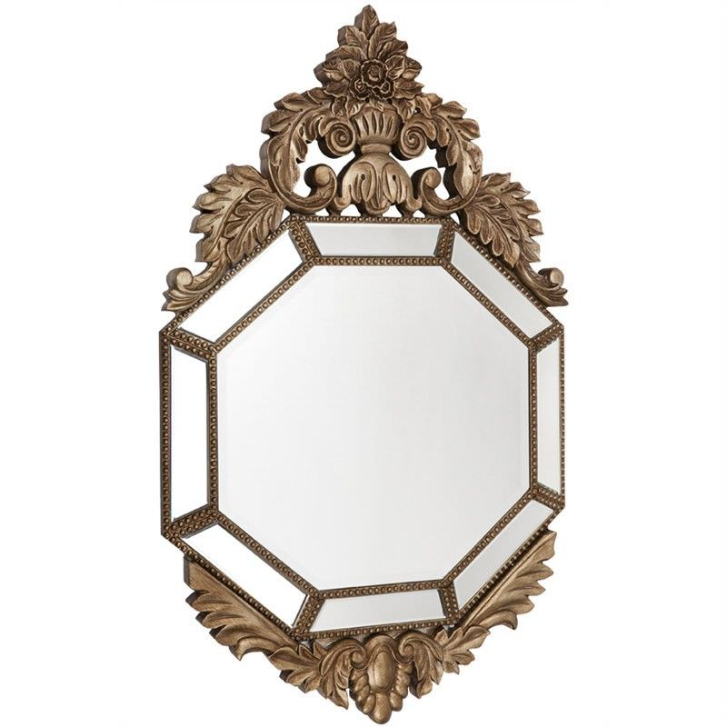 Isola Hand Carved Solid Timber Frame 107cm Wall Mirror