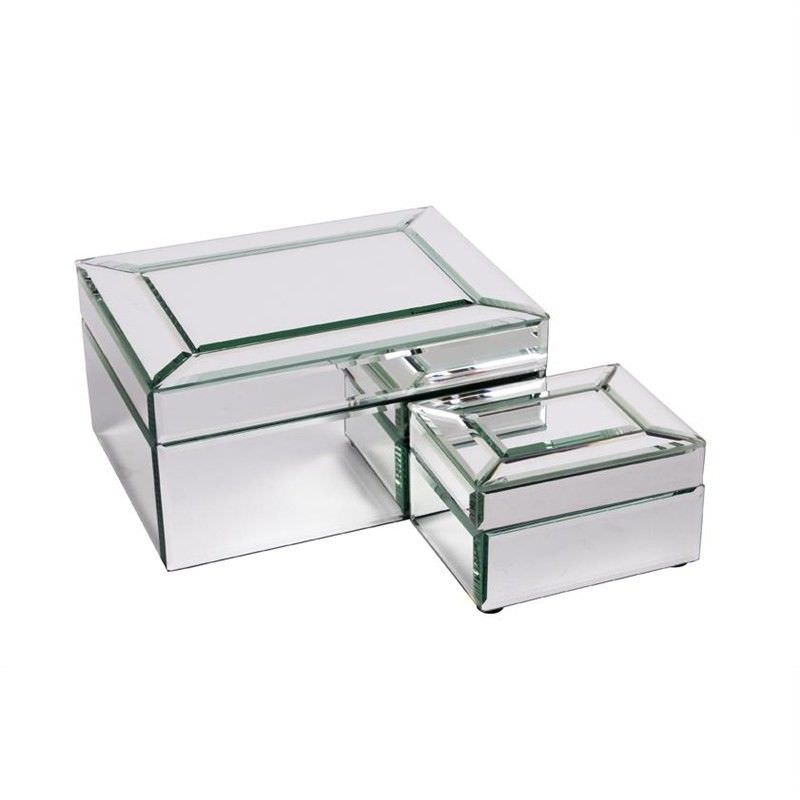 Layla Bevelled Mirror Jewellery Box - Large