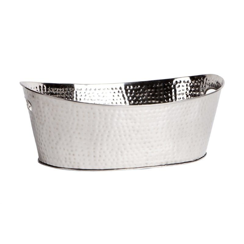 Campania Handcrafted Stainless Steel Wine Bucket - Nickel
