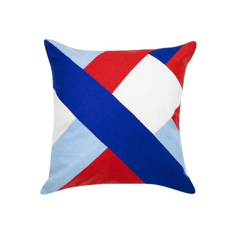 Olsen Feather Filled Cotton Scatter Cushion - Blue