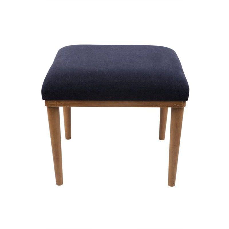 Jax Linen Upholstered Timber Stool