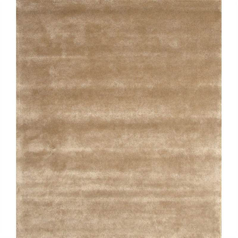 Cashmere Luxury Wool & Viscose Pile Rug in Camel - 190x280cm