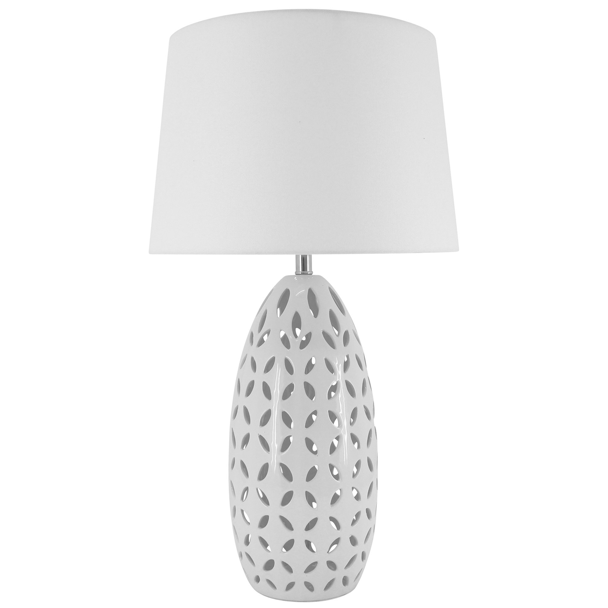 Kiran Ceramic Base Table Lamp, White