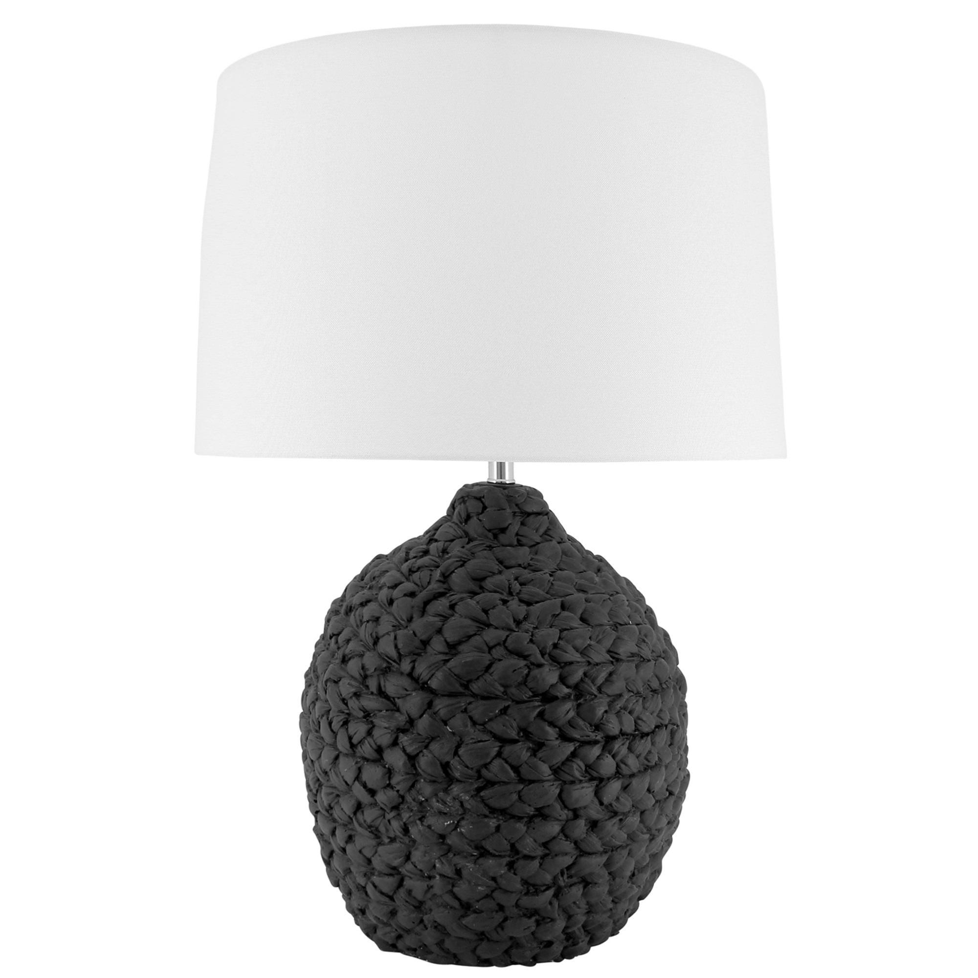 Erica Ceramic Base Table Lamp, Black