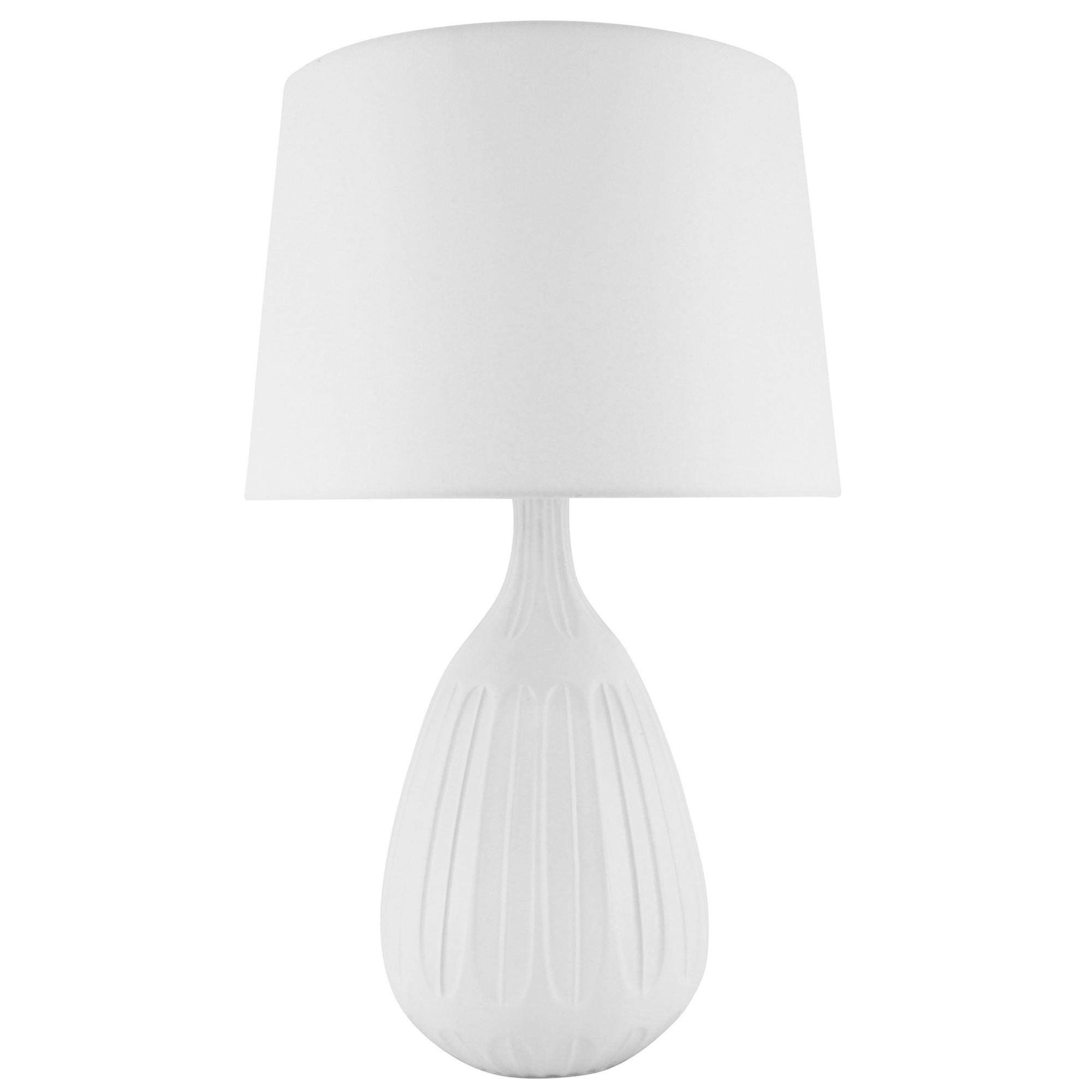 Zia Ceramic Base Table Lamp, White