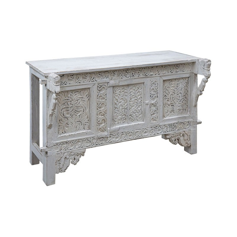 Karolina Carved Timber Console Table