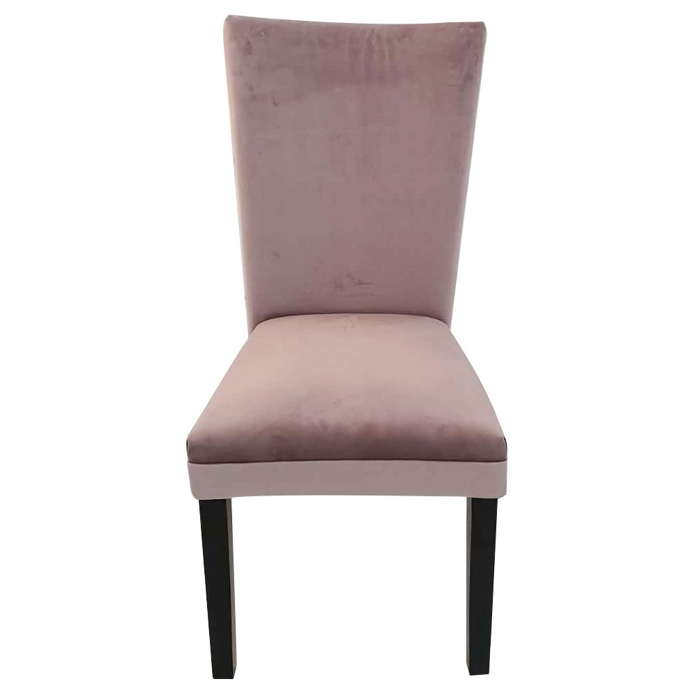Carra Velet Fabric Dining Chair, Blush