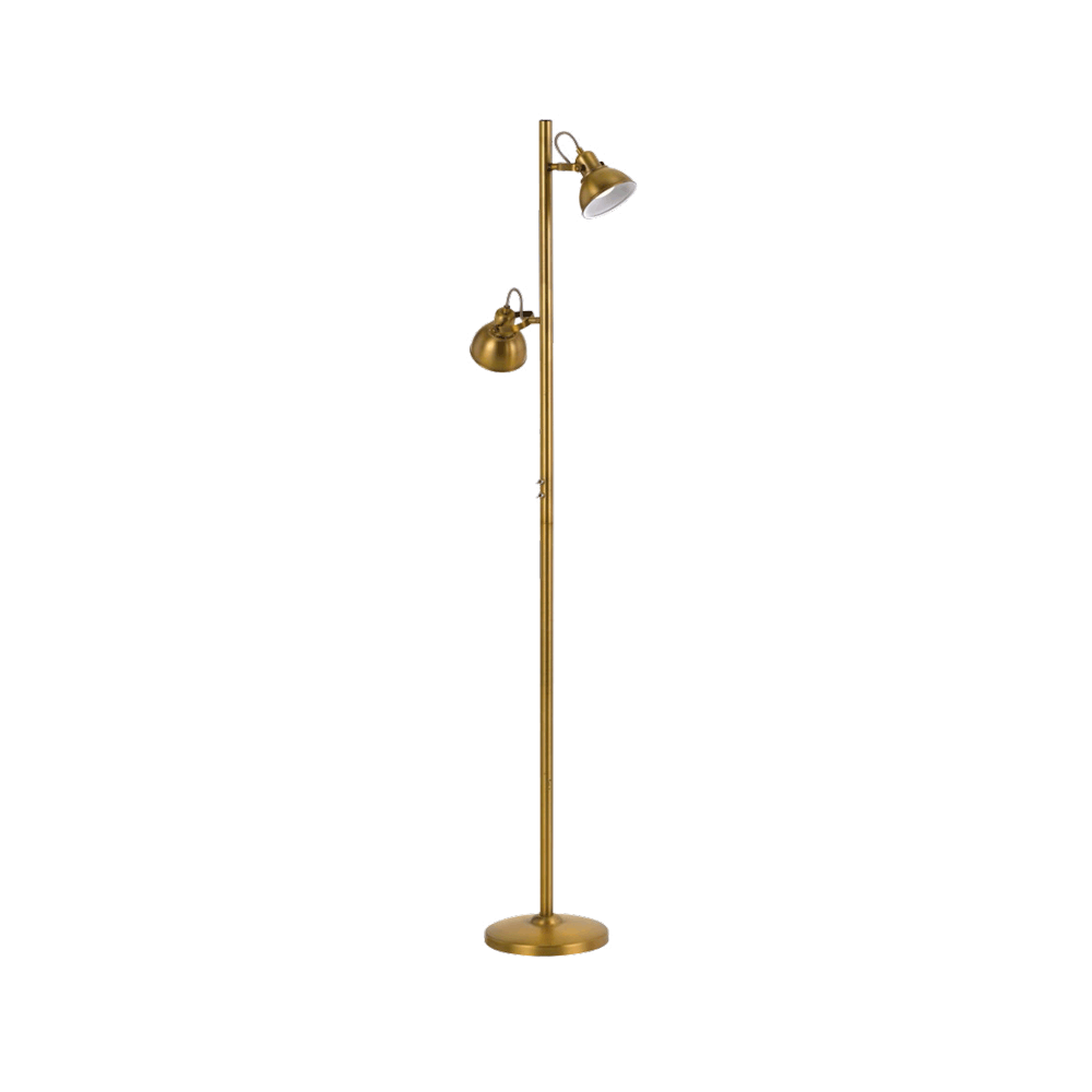 Carson Metal Floor Lamp, 2 Light, Antique Brass