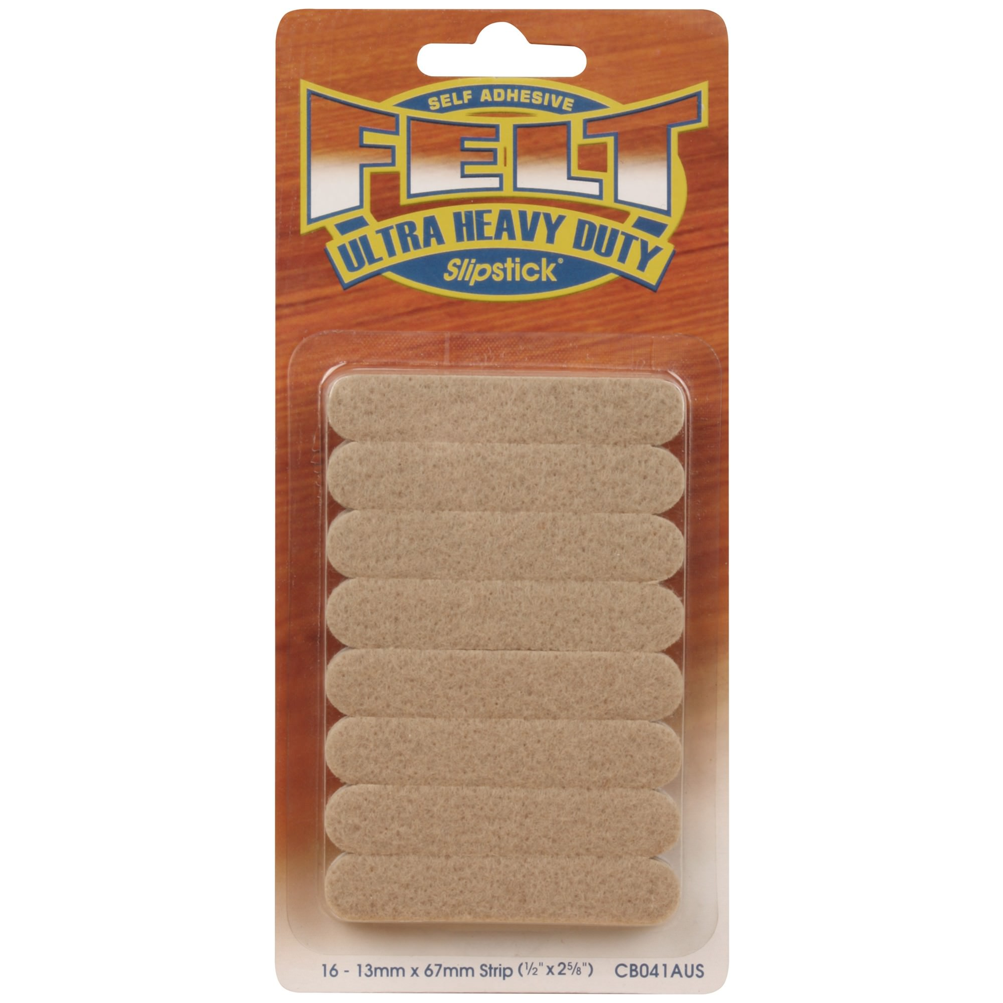 Slipstick Heavy Duty Felt Strips, 16 Pack