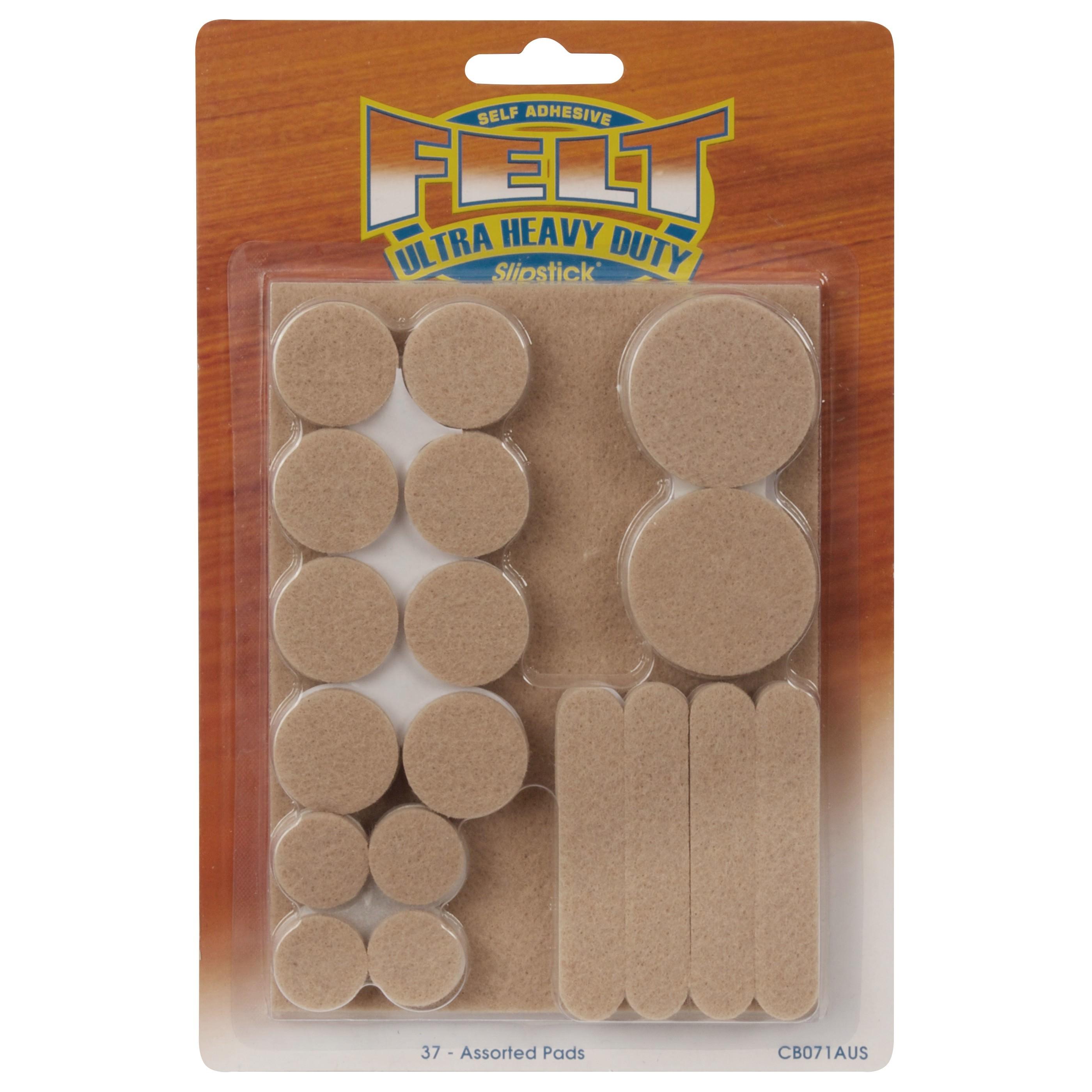 Slipstick Assorted Heavy Duty Felt Pads, 37 Pack