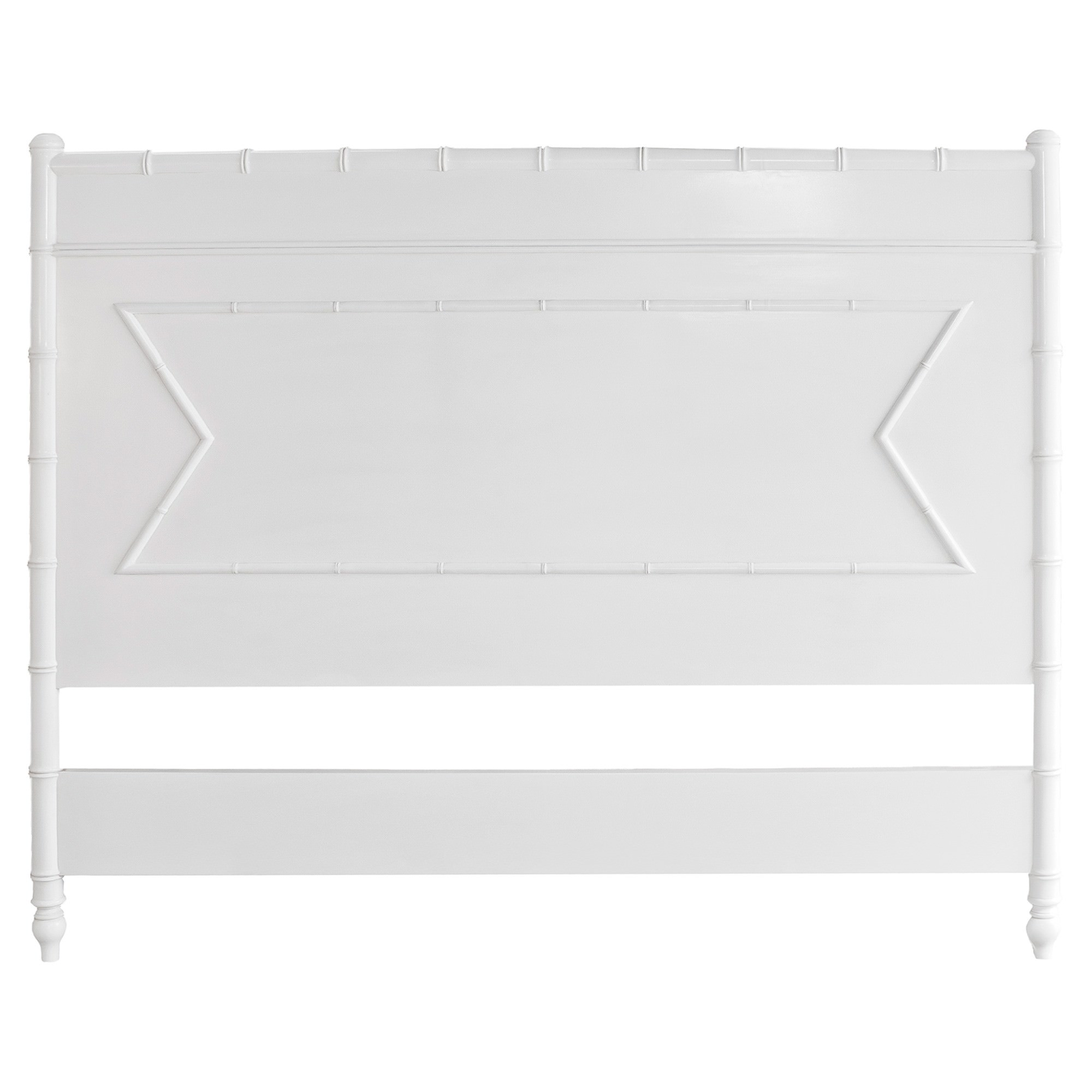 Cayman Mahogany Timber Bed Headboard, Queen, White