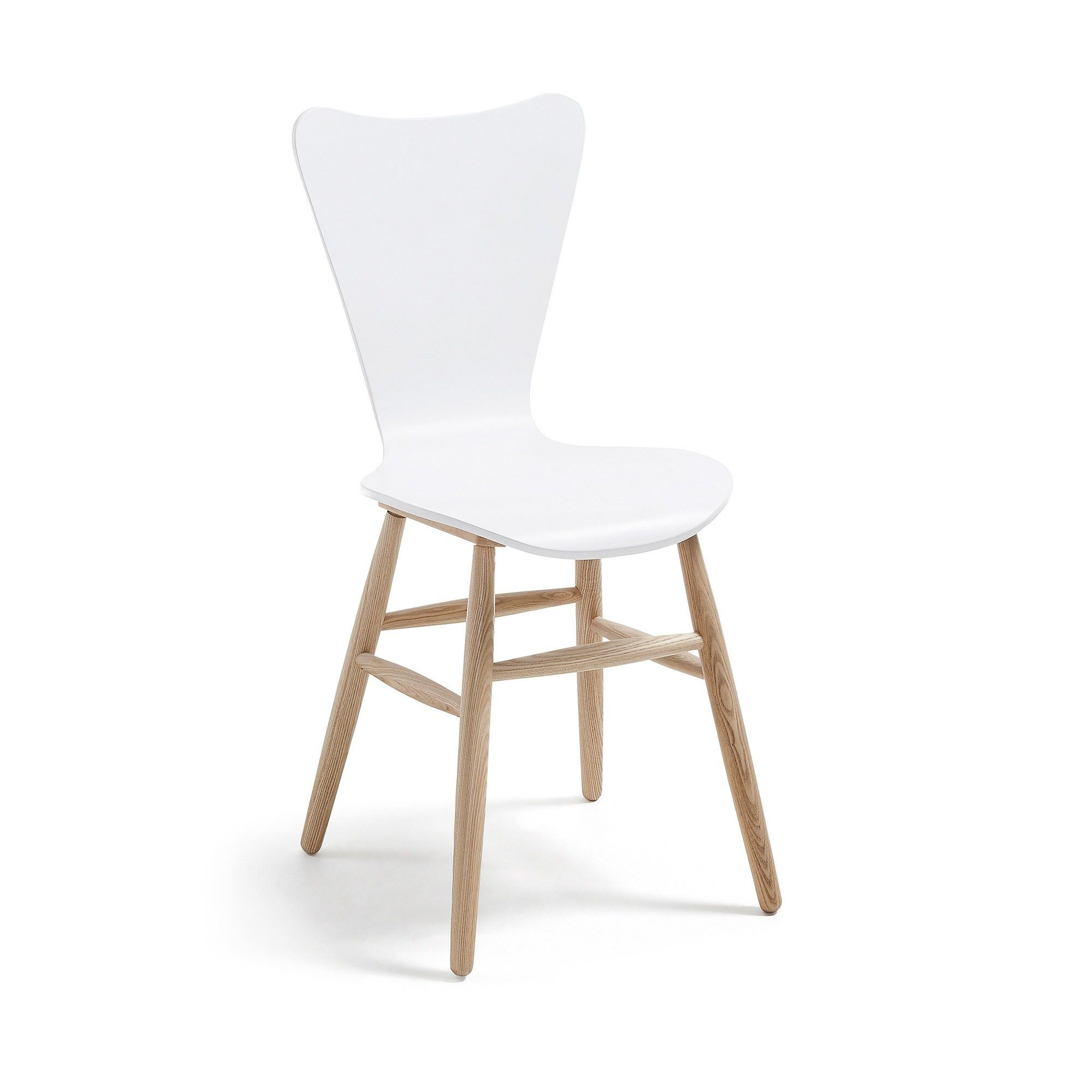 Masa Timber Dining Chair, White