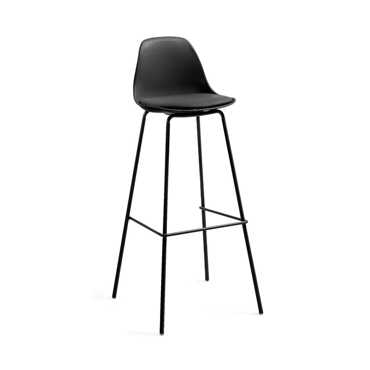 Chaves PU Leather Counter Stool, Black