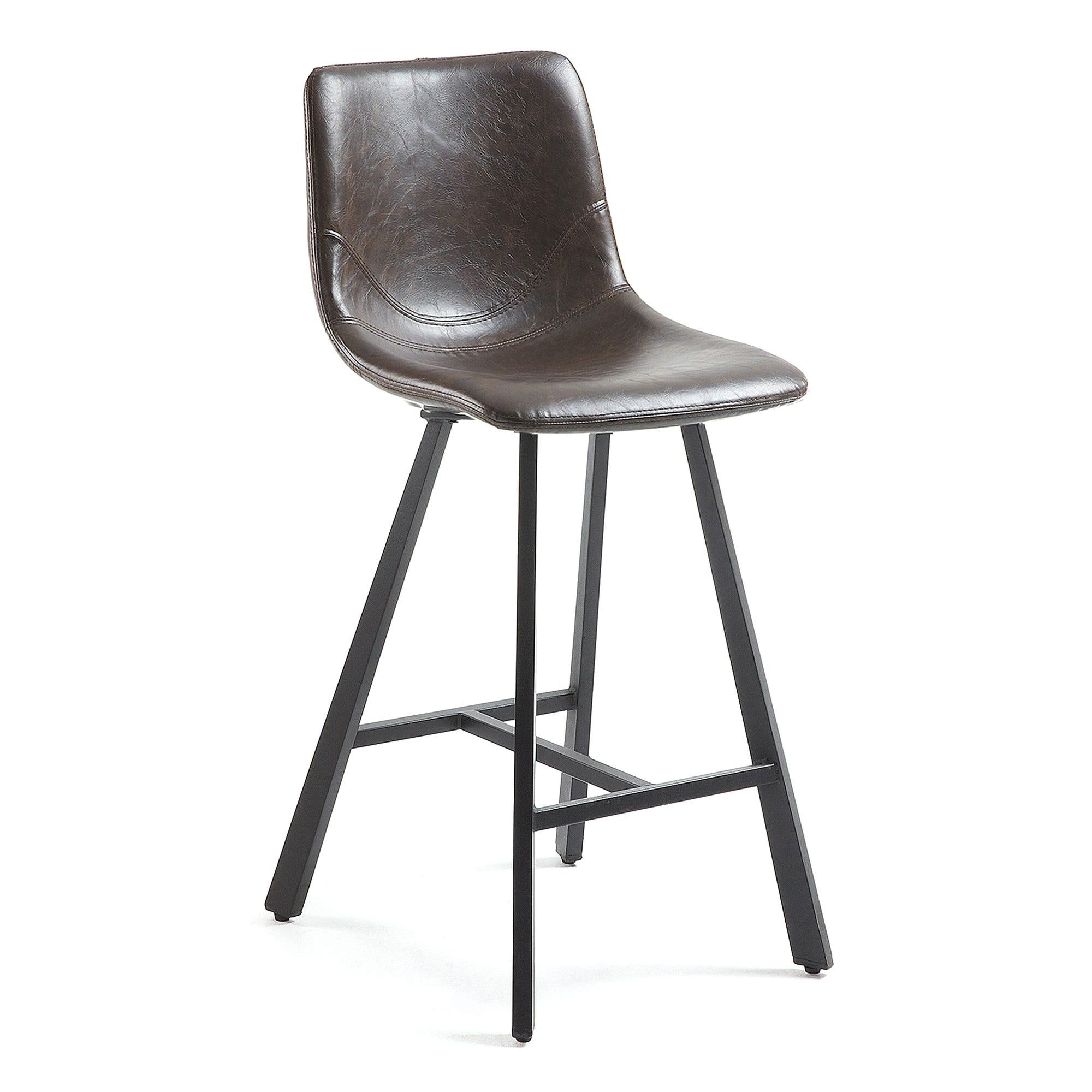 Kilburnie PU Leather Counter Stool, Chocolate