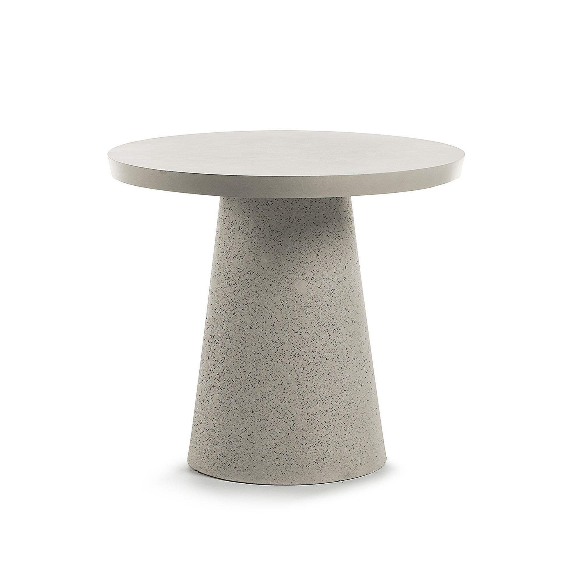 Roxbury Polycement Indoor / Outdoor Round Dining Table, 90cm