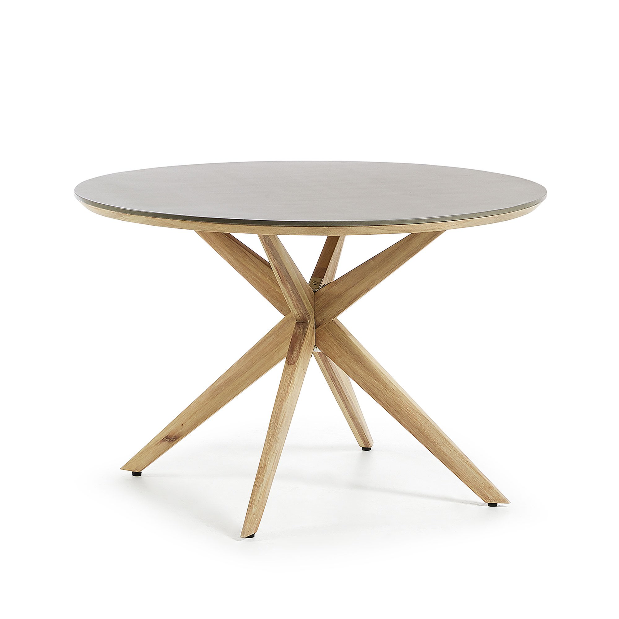 Hastings Poly Cement & Eucalyptus Indoor / Outdoor Round Dining Table, 120cm
