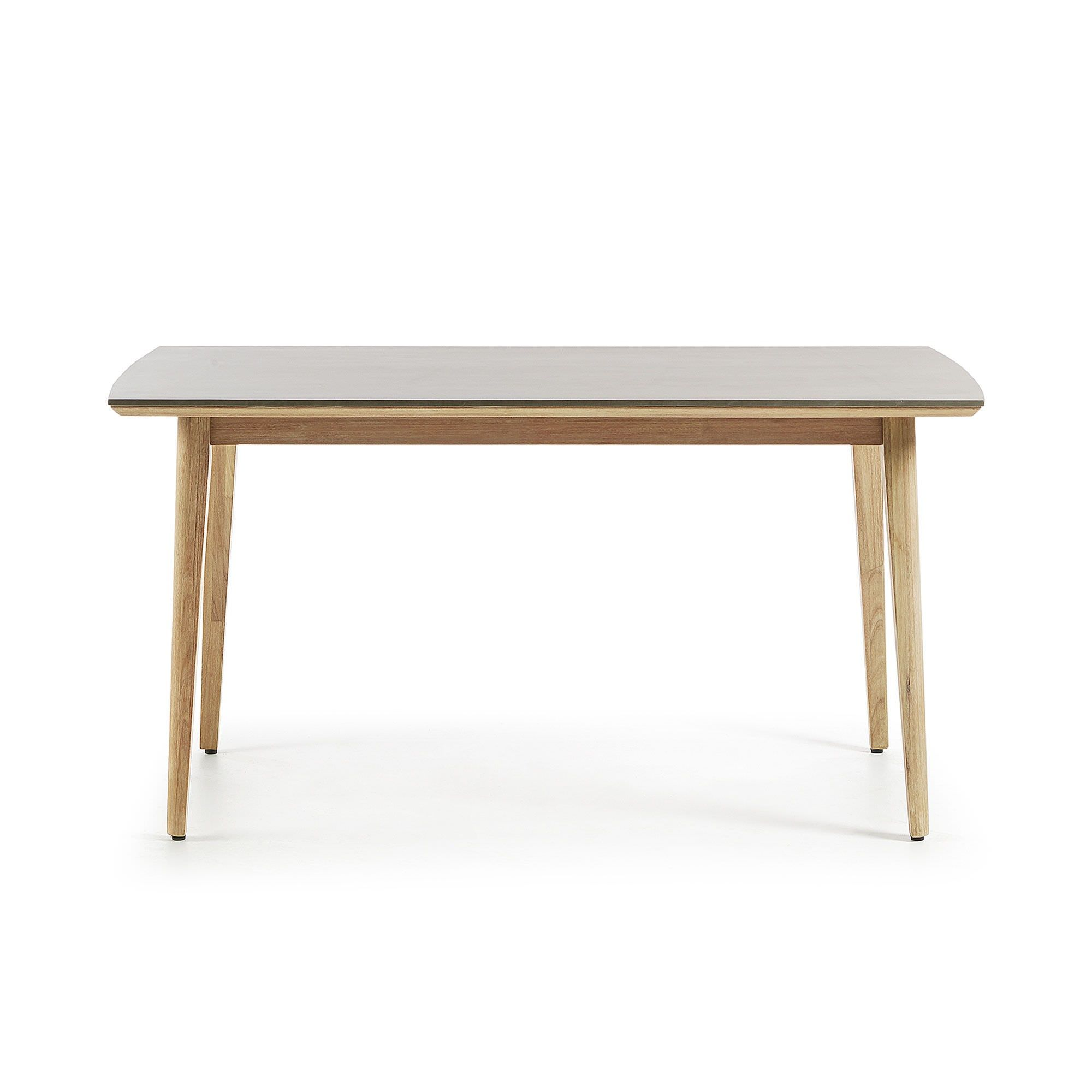 Kingsley Polycement Top Eucalyptus Timber Indoor / Outdoor Dining Table, 160cm