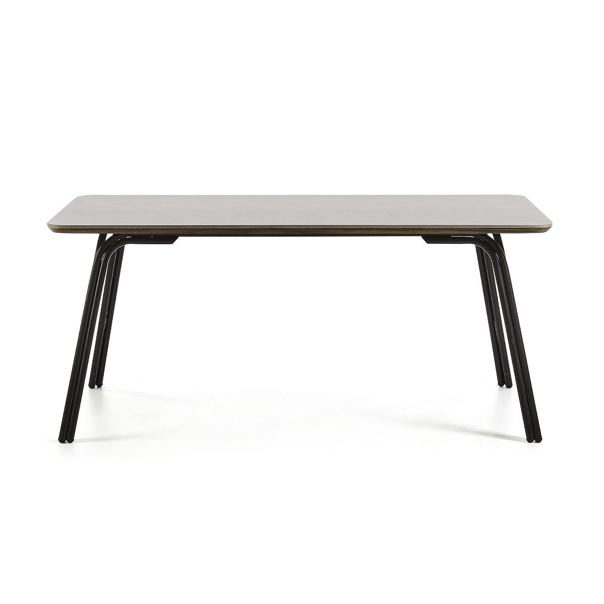 Liosia Poly Cement & Steel Dining Table, 180cm