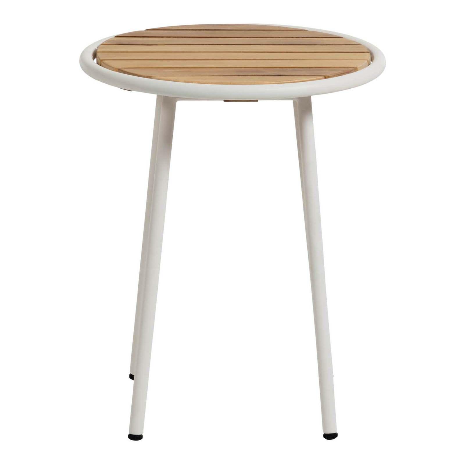 Aro Acacia Timber & Steel Alresco Round Side Table