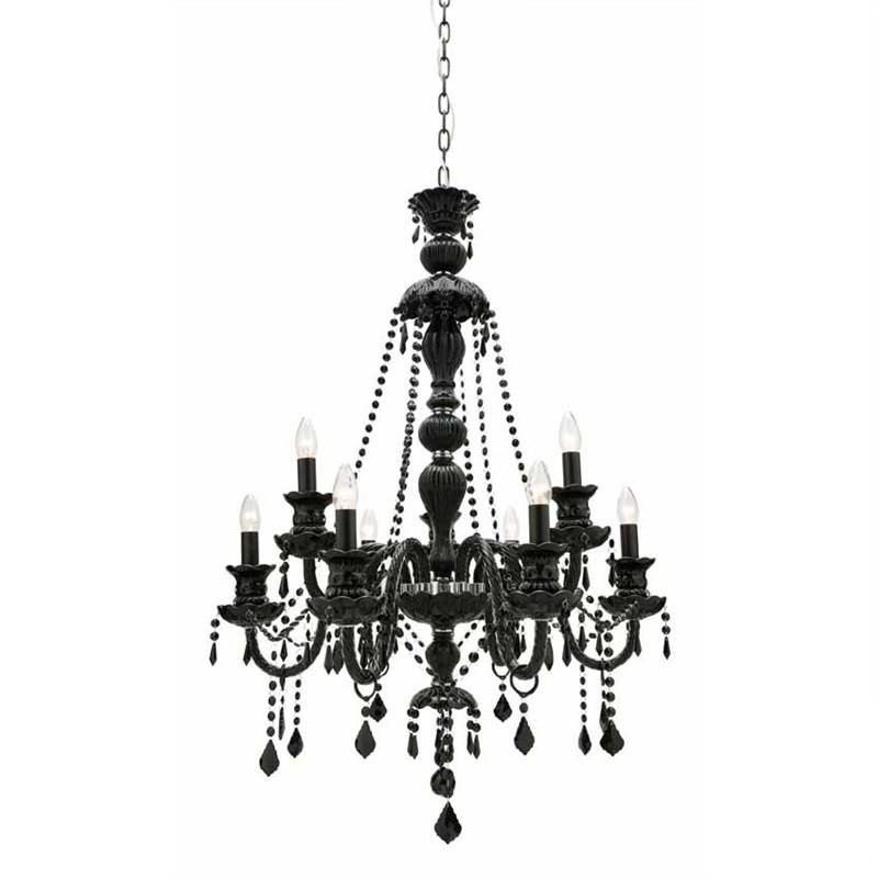 Lexington 9 Light Chandelier, Black