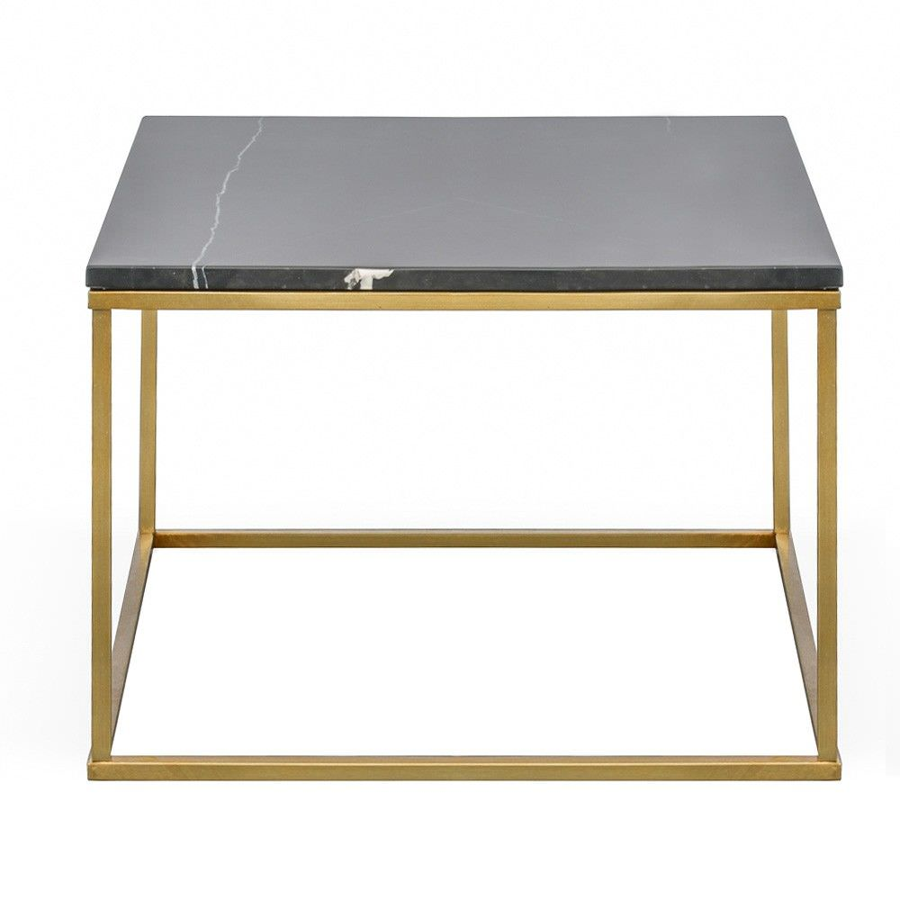 40 Metal Square Coffee Tables: Ryan Marble & Stainless Steel Square Coffee Table, 60cm