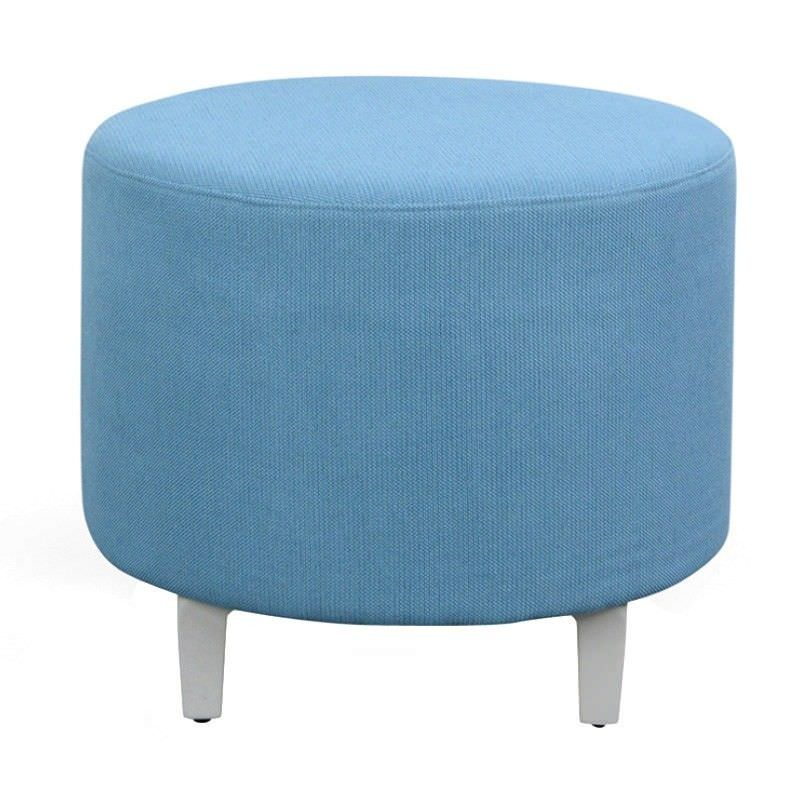Hero Commercial Grade Fabric Round Stool, Blue