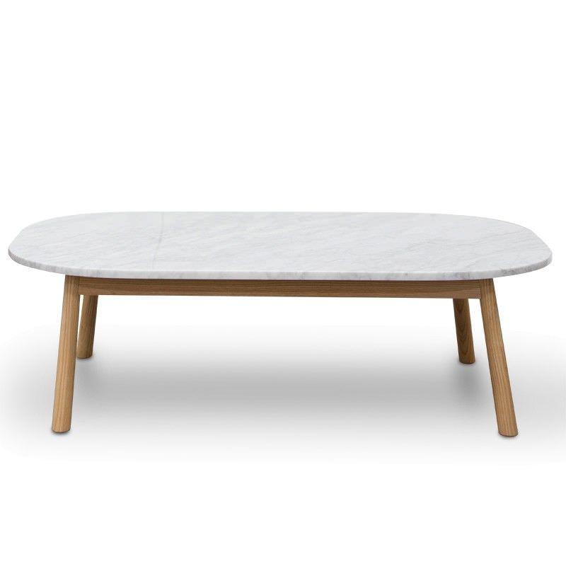Hasmark Marble Top Oval Coffee Table, 110cm