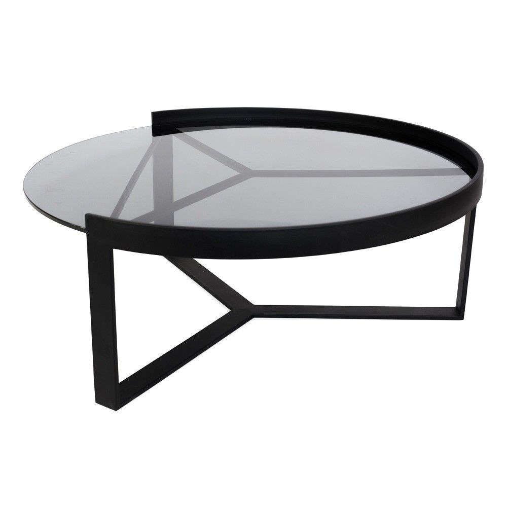 Marcel Metal & Glass Round Nesting Coffee Table, Large