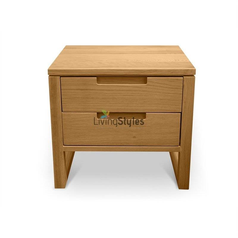 Elgtrakket 2 Drawer Bedside Table - Natural