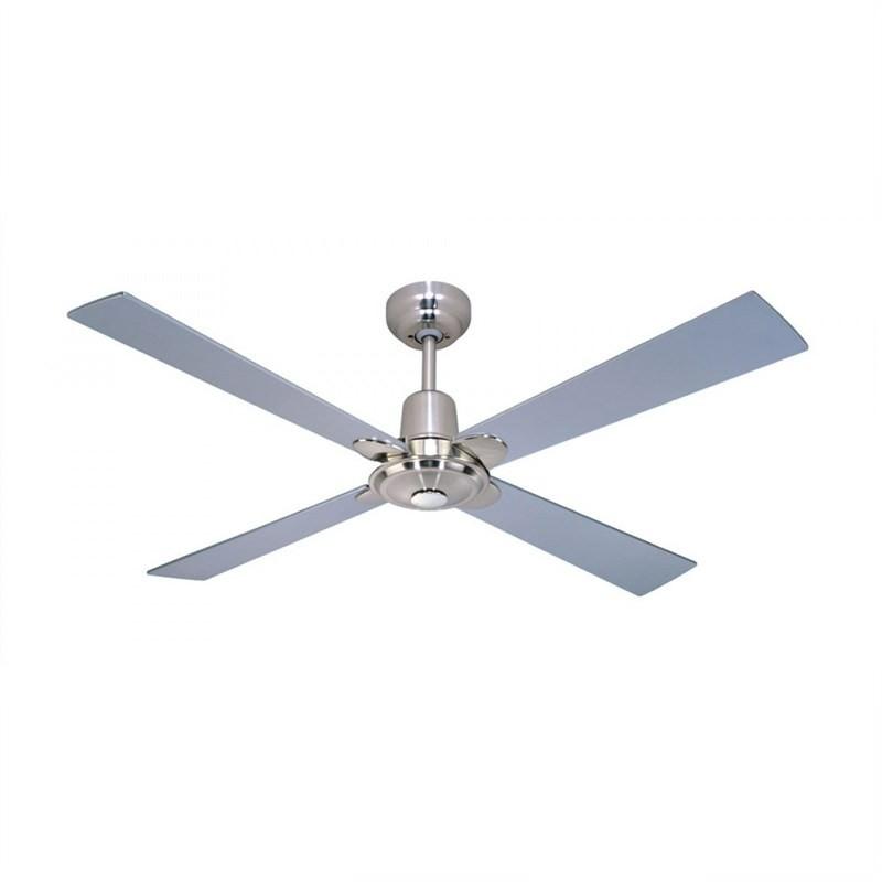Martec Four Seasons Alpha 4 Plywood Blade Ceiling Fan (CFS124) in Silver