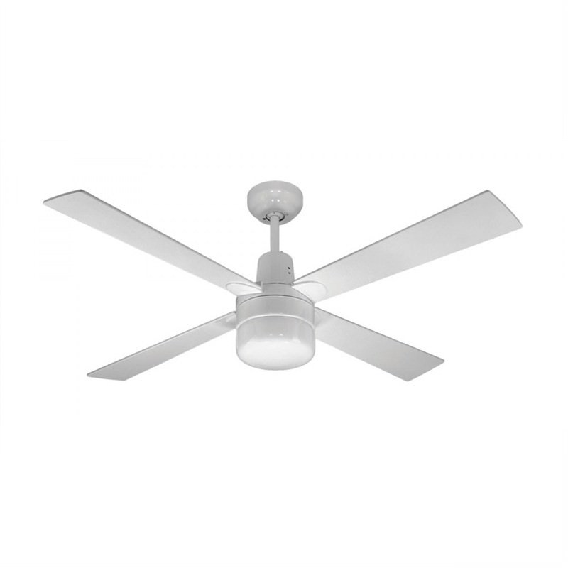Martec Four Seasons Alpha 4 Plywood Blade Ceiling Fan (CFW124C) with Clipper Light in White
