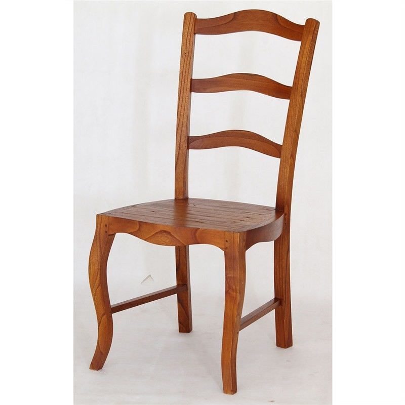 Mervent Solid White Cedar Timber Dining Chair - Light Pecan Stain