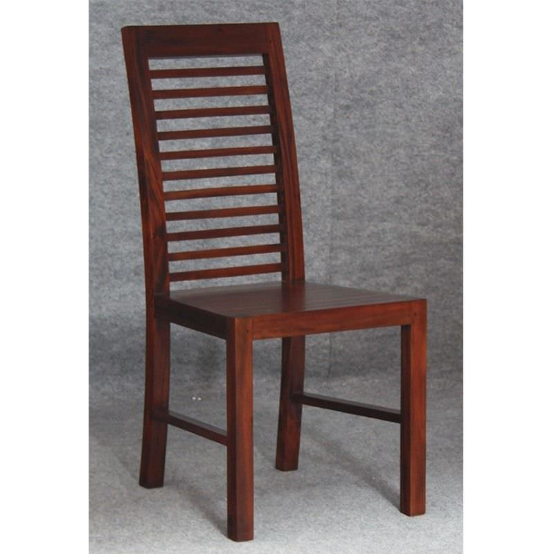 Holland Solid Mahogany Timber Dining Chair - Mahogany