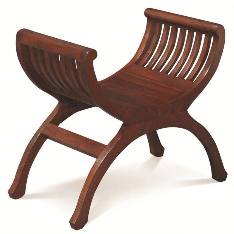 Liam Solid Mahogany Timber Single Seater Bench, Mahogany