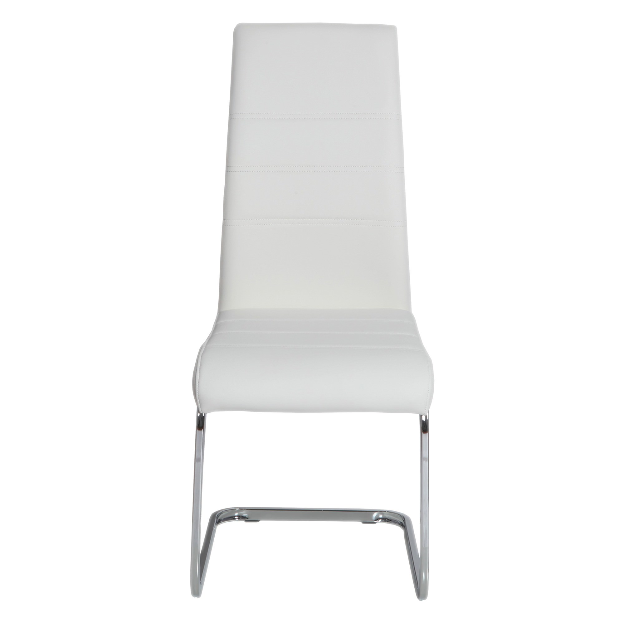 Morton Faux Leather Dining Chair, White