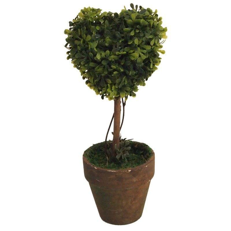 Pruned Heart Faux Greenery