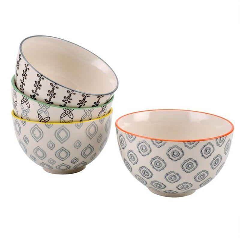 Set of 4 Stoneware Bowls