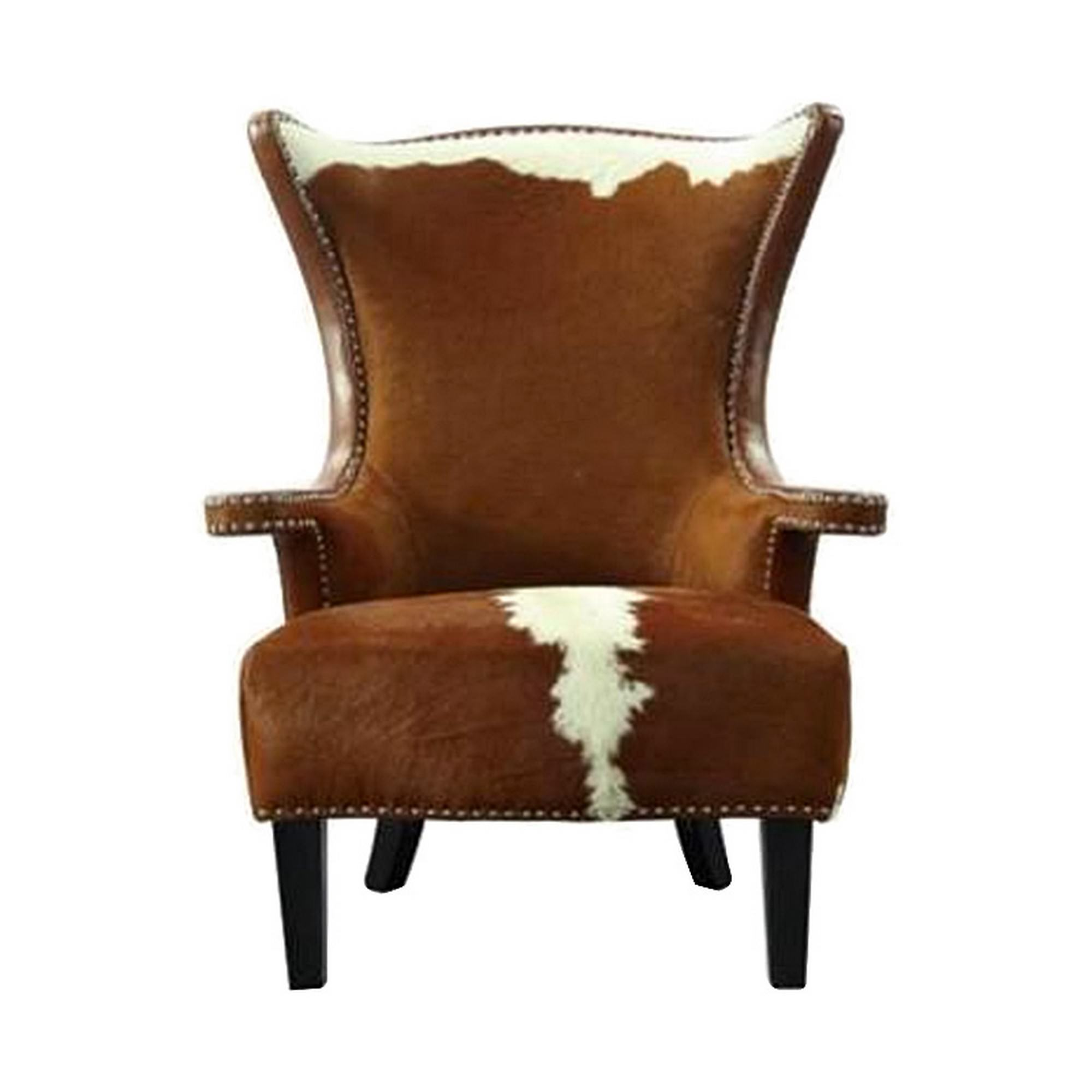 Taurus Cowhide Wing Back Armchair