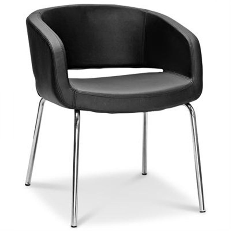 Sylvester 4 Leg Lounge Tub in Black Commercial Grade