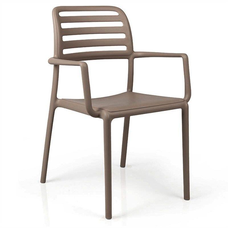 Costa Italian Made Commercial Grade Stackable Indoor/Outdoor Armchair - Taupe