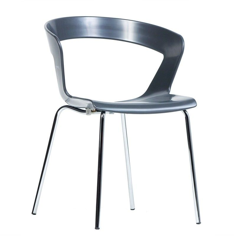 Ibis Italian Made Commercial Grade Dining Chair - Anthracite