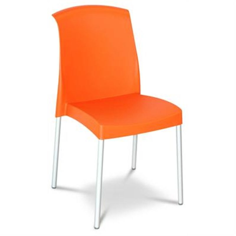 Jenny Chair in Orange (set of 2) Commercial Grade